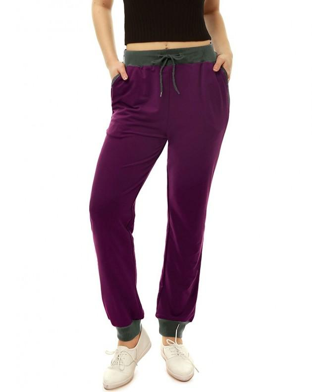 Allegra Drawstring Stretch Contrast Purple 1