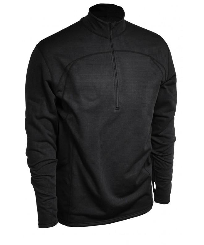 Terramar Mens Fleece Black Medium