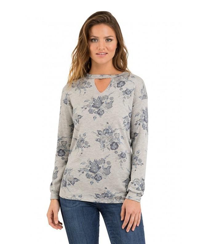 Como Blu Choker V Neck Sweatshirt