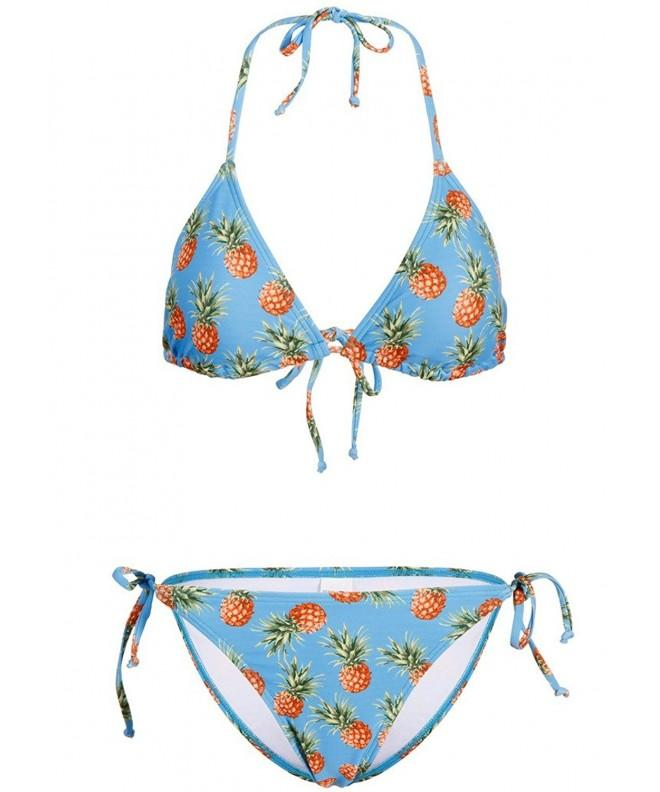 Pretty Attitude Turquoise Pineapple Swimsuit