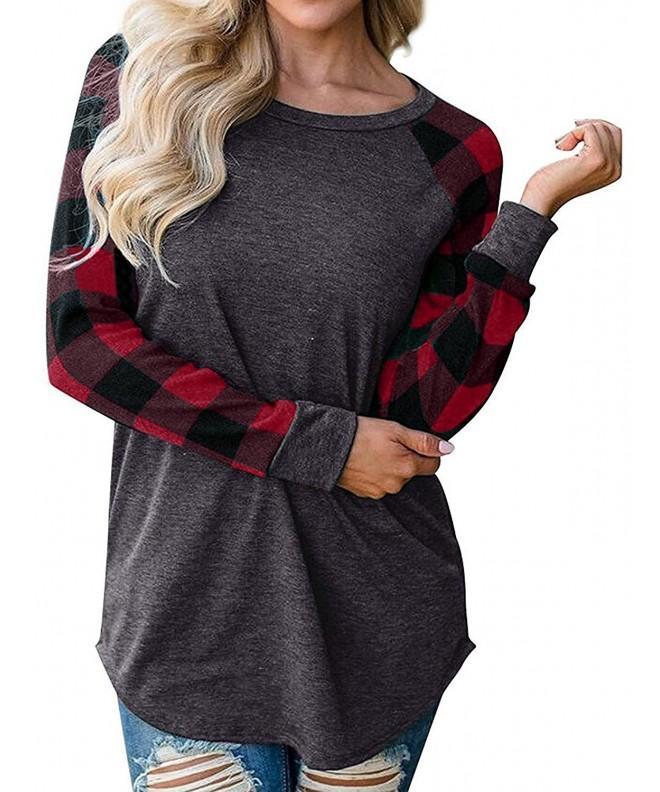 SUNNYME Womens Sleeve Blouses Sweatshirt