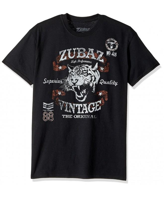 Zubaz Vintage Graphic T Shirt Black