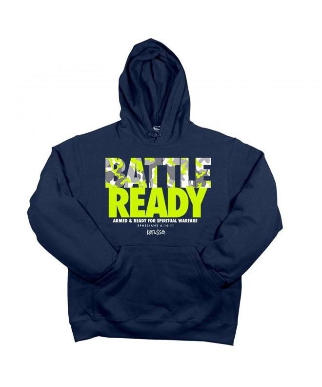 Battle Ready Hooded Sweat Navy
