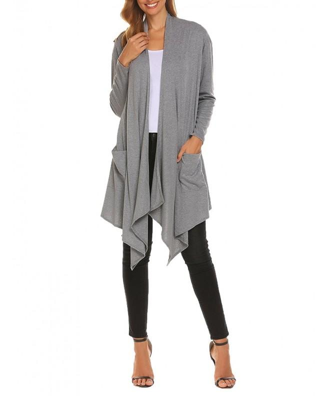 Bifast Womens Ruched Sleeve Cardigan