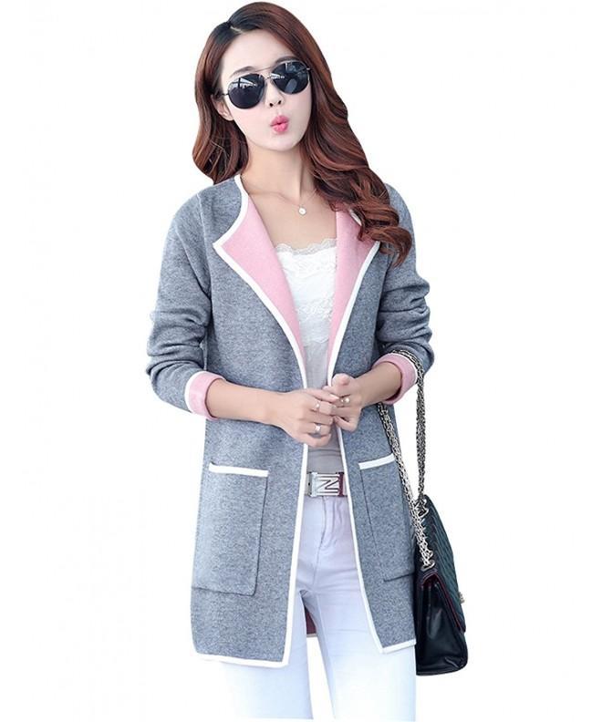 Yeokou Cardigan Sweaters X Large Grey001