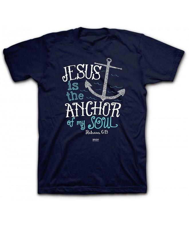 Jesus Anchor Tee Navy Christian