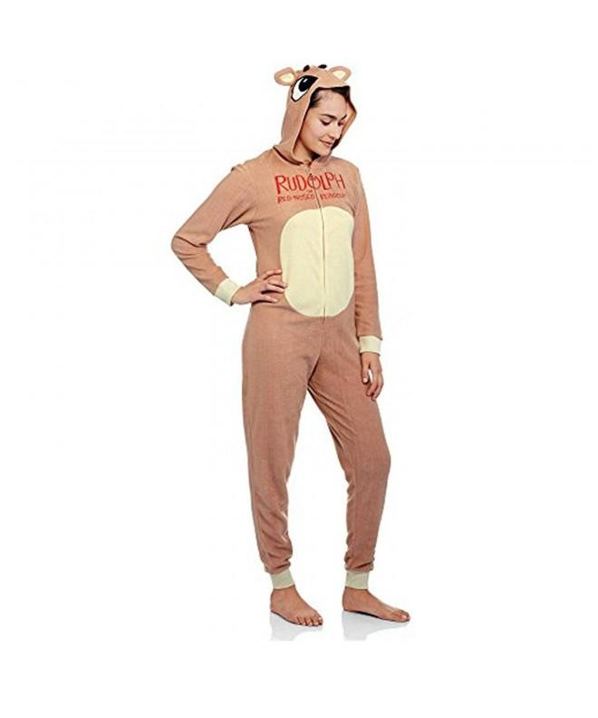 Rudolph Reindeer Fleece Unionsuit Pajamas
