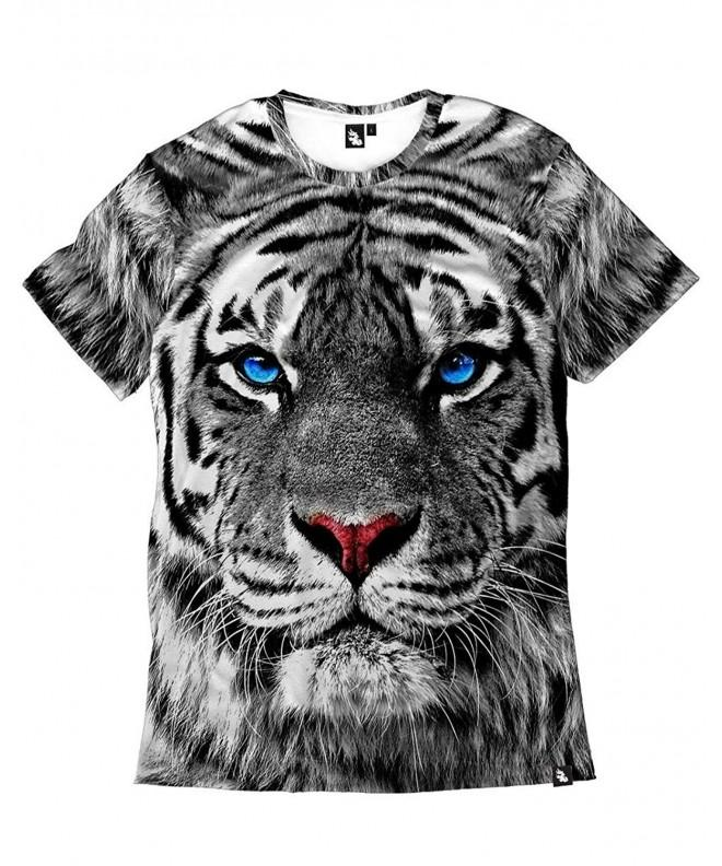 iHeartRaves White Tiger Short Sleeve