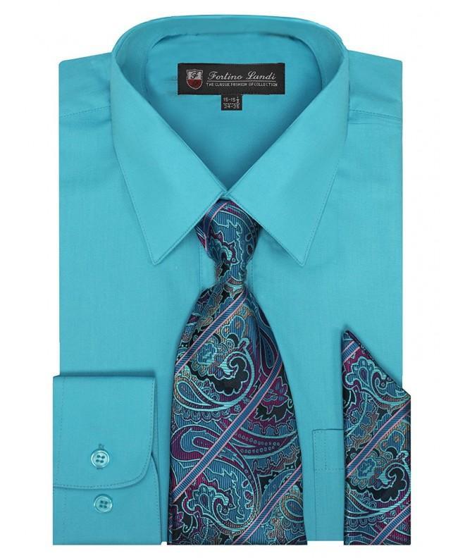 Long Sleeve Dress Shirt Hanky