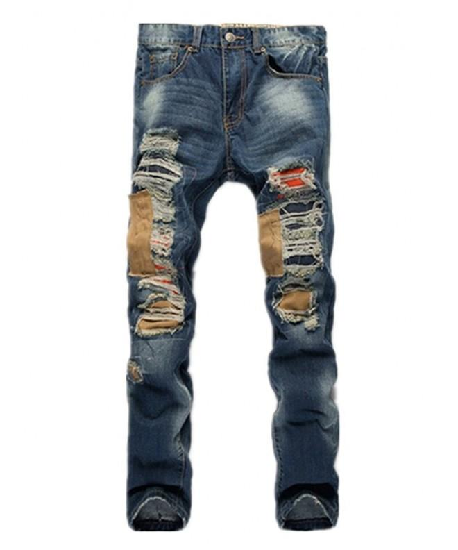 Vionr Ripped Destroyed Distressed Straight