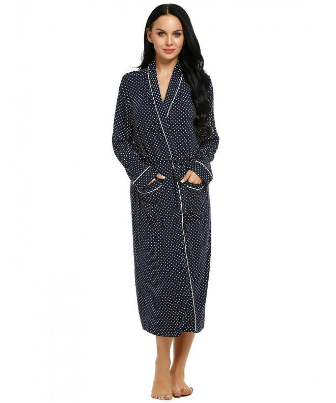 Lamore Womens Bathrobe Towelling Pockets