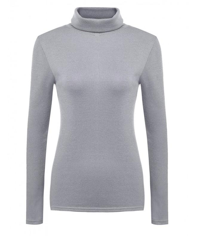 Hotouch Womens Sleeve Turtleneck Sweater