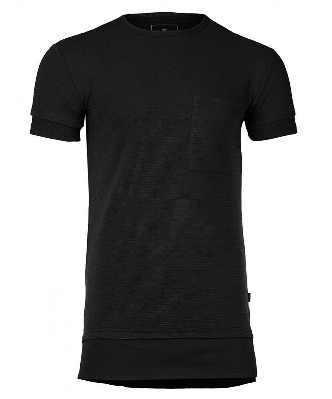 Relaxed Longline Ribbed Crewneck T shirt
