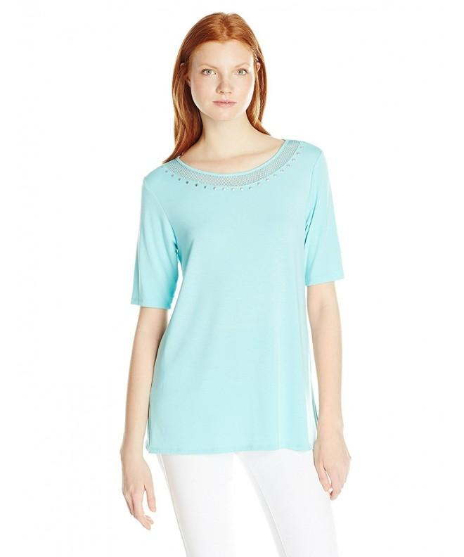Ruby Rd Womens Embellished Scoop