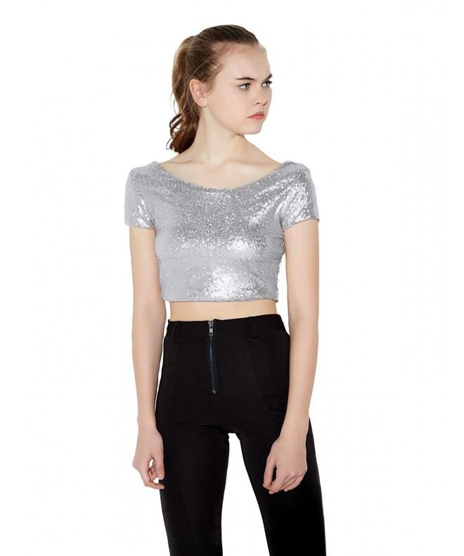 Irisie Glistening Sequin Bodycon T shirt