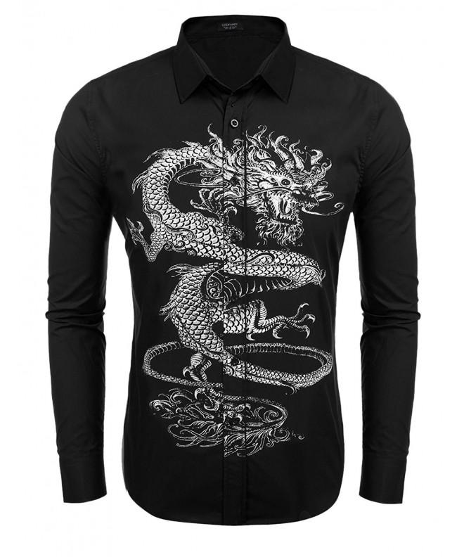 COOFANDY Dragon Fashion Button Shirts