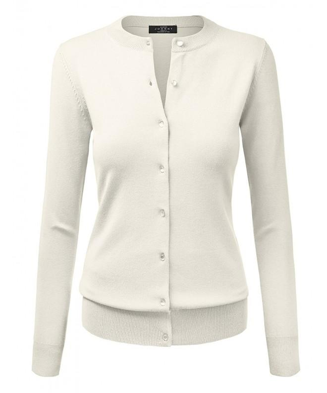 WSK781 Womens Classic Round Cardigan