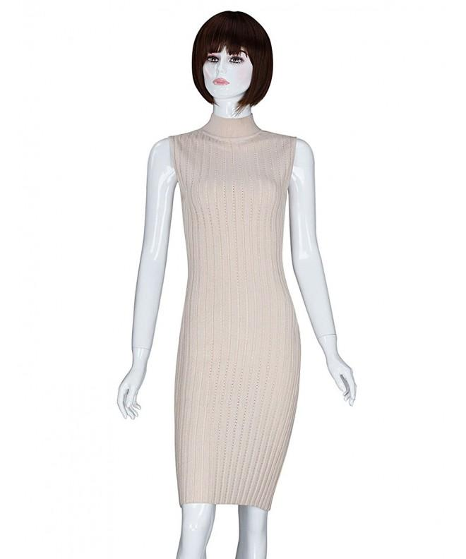ADAMARIS Sleeveless Bodycon Knitted Pullover