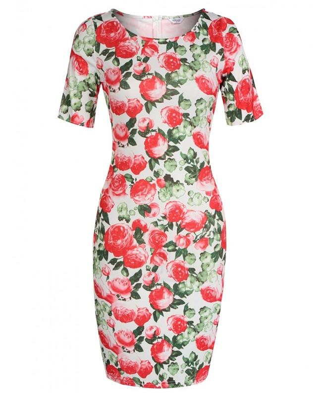 Meaneor Womens Floral Sweetheart Sleeve