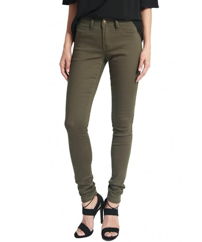 TheMogan Womens Pocket Stretch Skinny