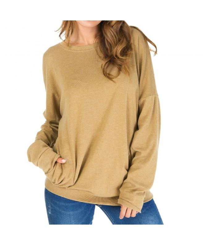Primoda Womens Sleeve Sweatshirt Blouses