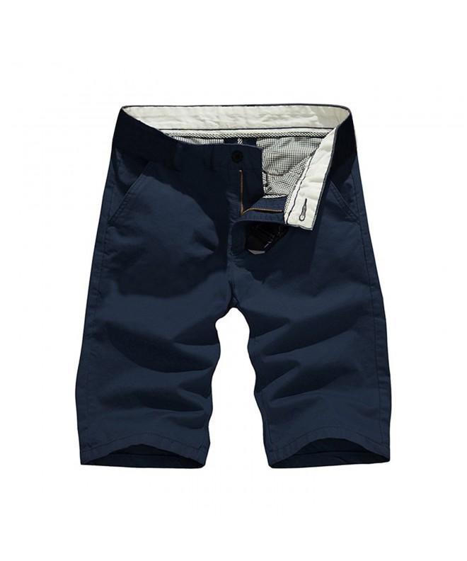 Hestore Casual Shorts Cotton Straight