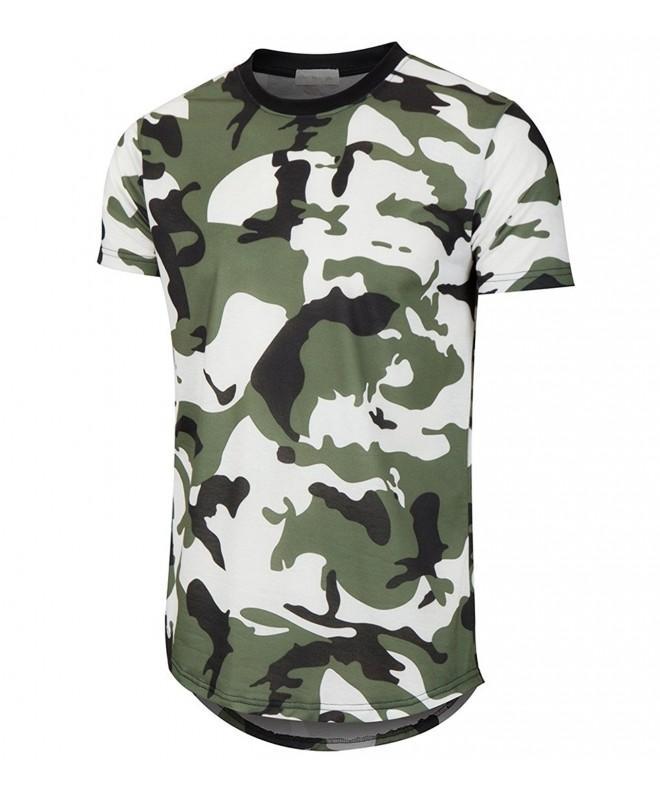 KLIEGOU Hipster Ripped Hemline Camouflage