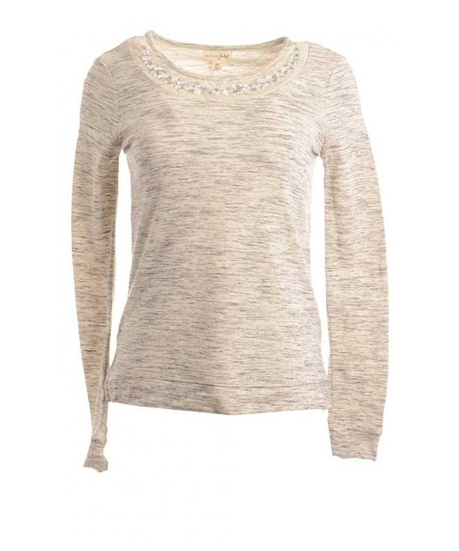 Maison Jules Womens Space Dye Pullover