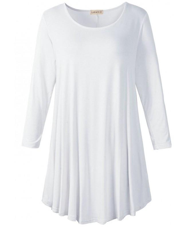 Larace Sleeve T Shirt 1X White