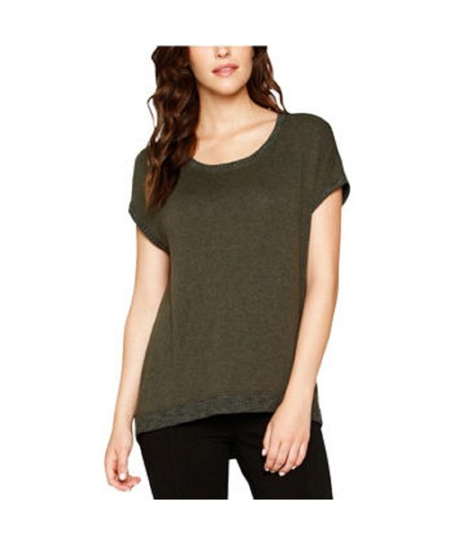 Matty Ladies Sweater Zippered Back Green