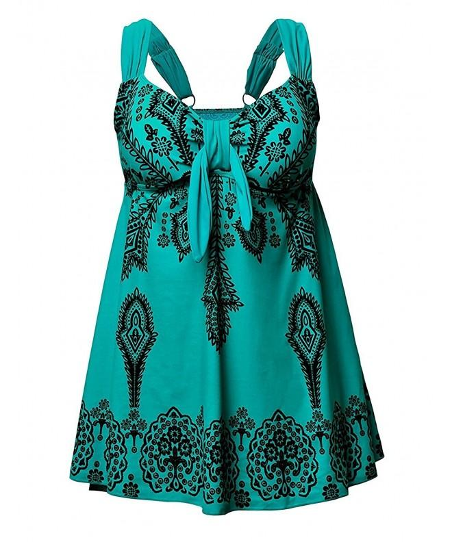 Swimwear Printed Tankini Swimsuits Beachwear
