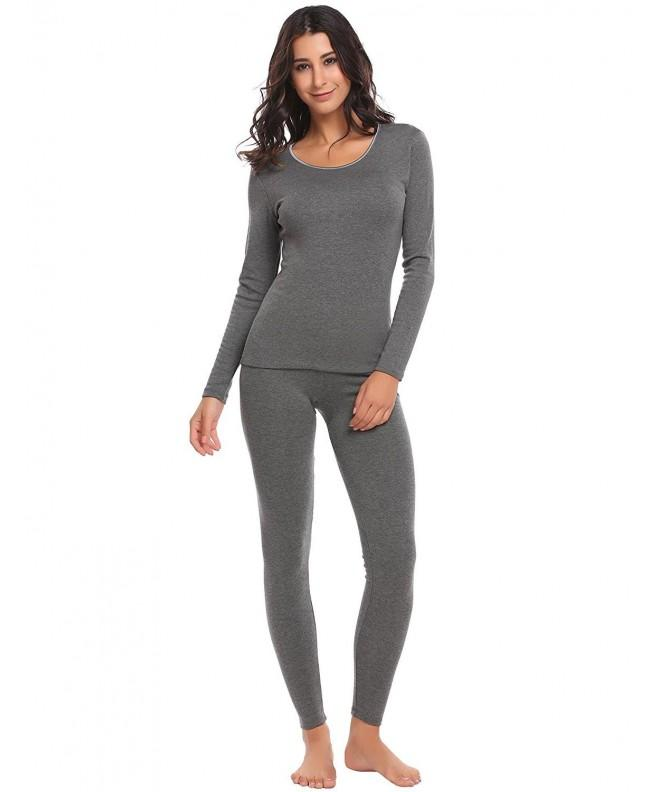 cindere Crewneck Thermal Underwear Pajamas