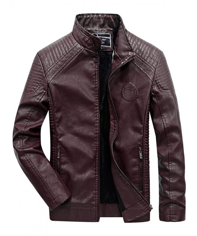 Tanming Lined Leather Jacket Outerwear