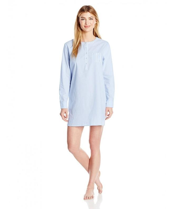 Nautica Womens Cotton Chambray Sleepshirt