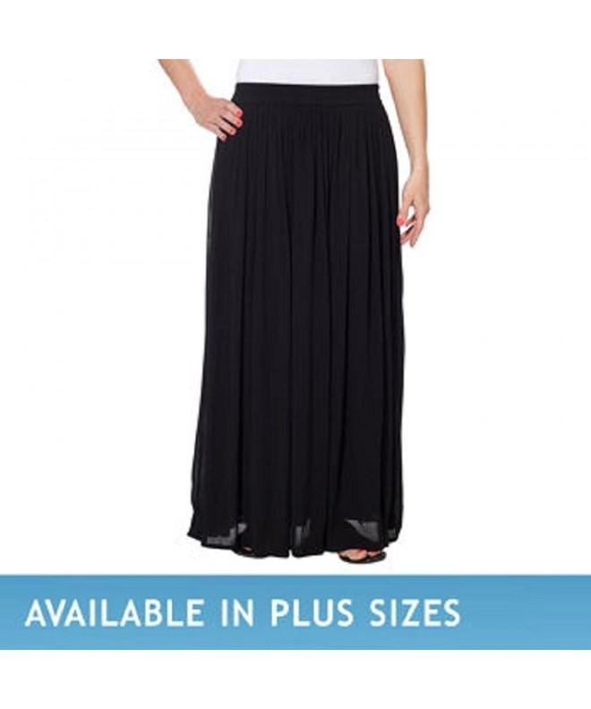 Chaudry Ladies Pull on Skirt Black Medium
