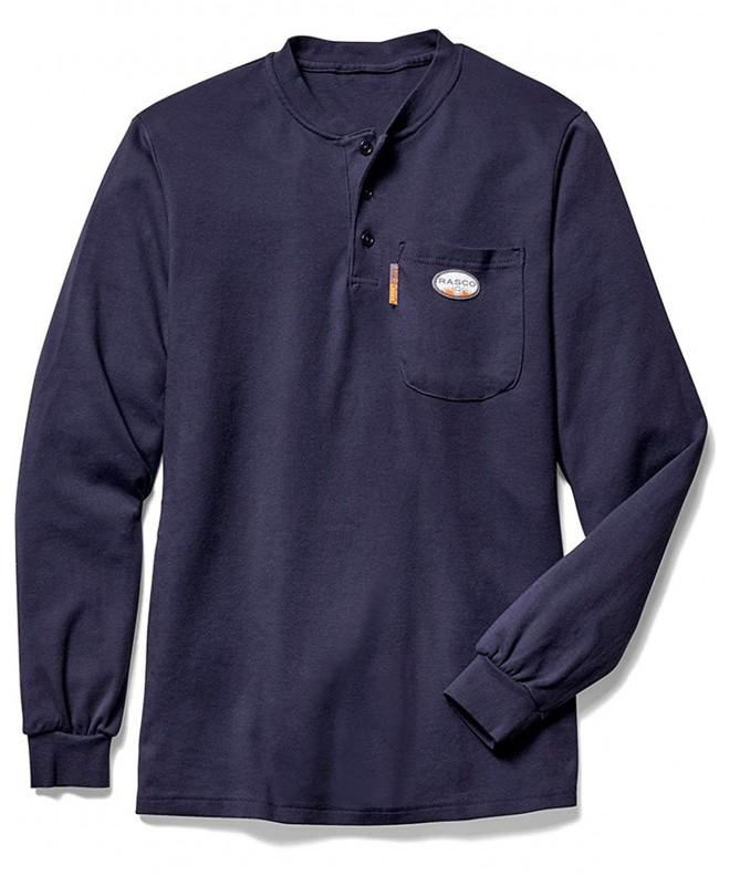 Rasco Henley T Shirt Preshrunk Cotton