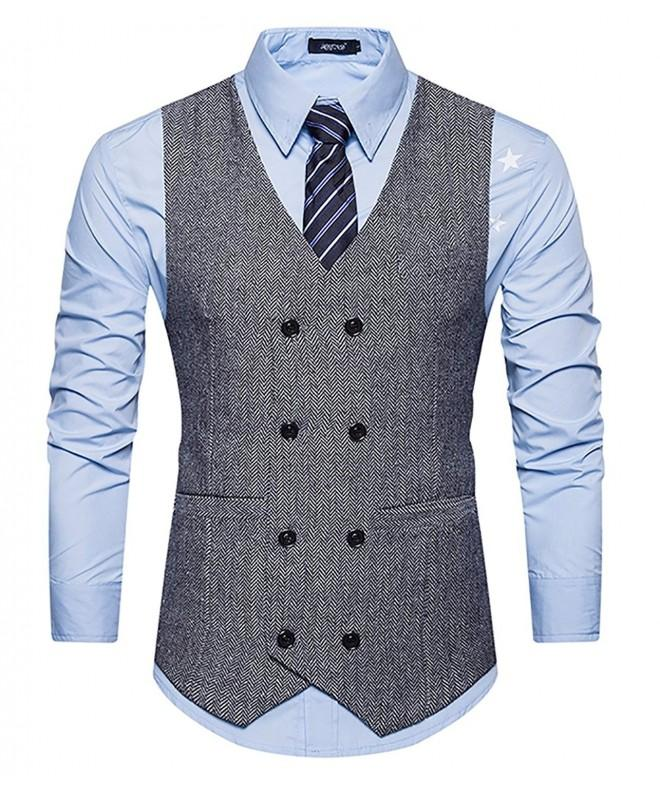 WULFUL Breasted Waistcoat Vintage Gentleman
