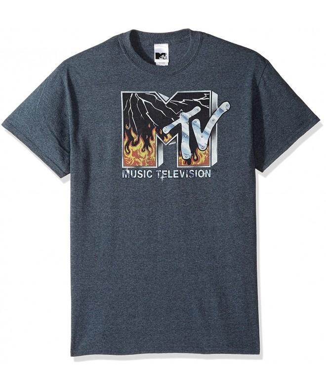 MTV Mens Fire T Shirt Heather
