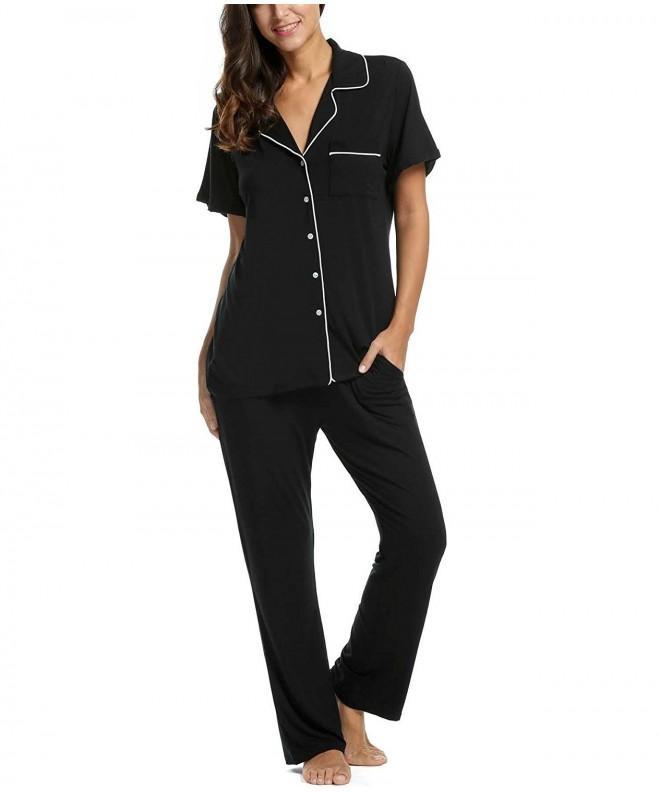 Bifast Womens Button Sleepwear Pajama