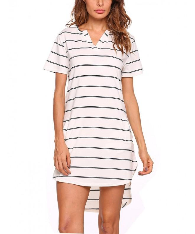 Zeagoo Womens Sleeve Striped Pocket