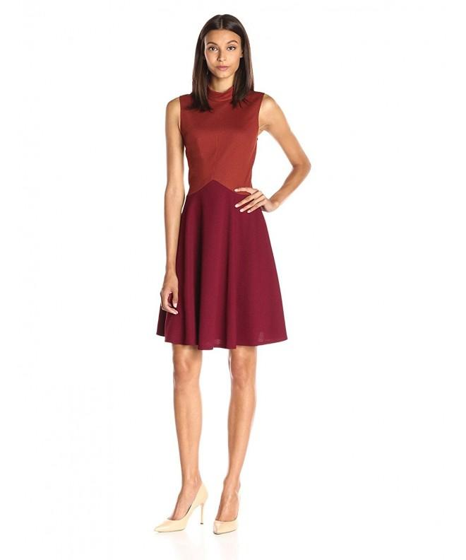 Lark Ro Colorblock Sleevless Burgundy