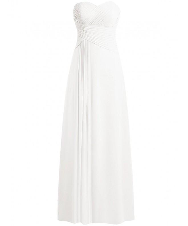 JAEDEN Wedding Dresses Strapless Chiffon