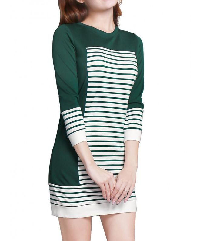 Allegra Womens Stripes Color Paneled