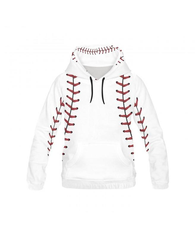 InterestPrint baseball Print Hoodie Sweatshirt