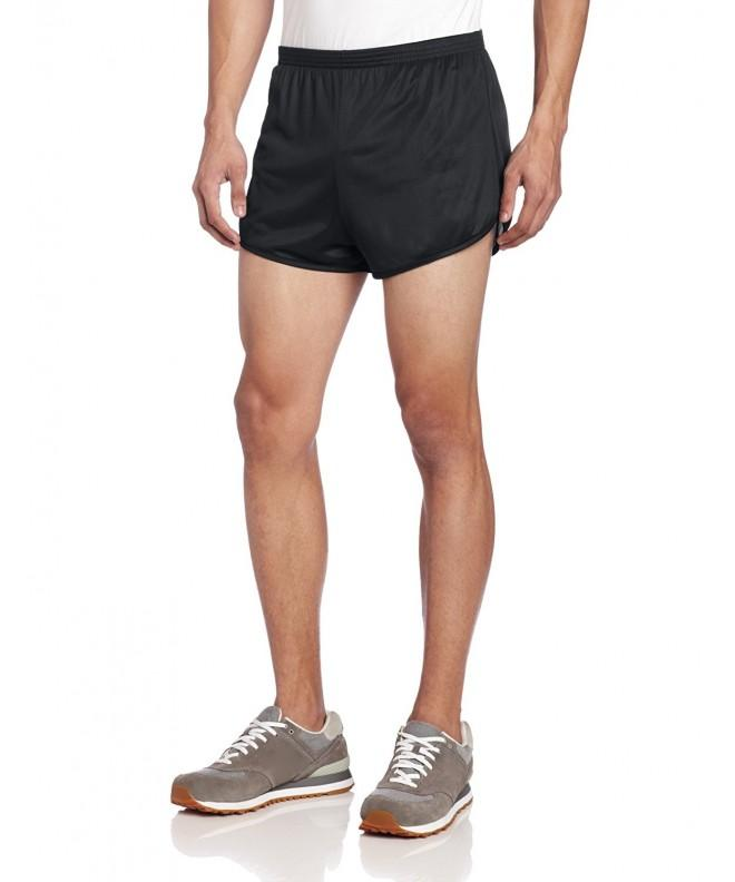Soffe 197V SR459A01 Large Mens Running ShortBlackMED