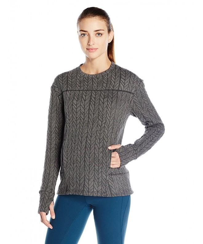 SHAPE activewear Odyssey Pullover Cable Heather