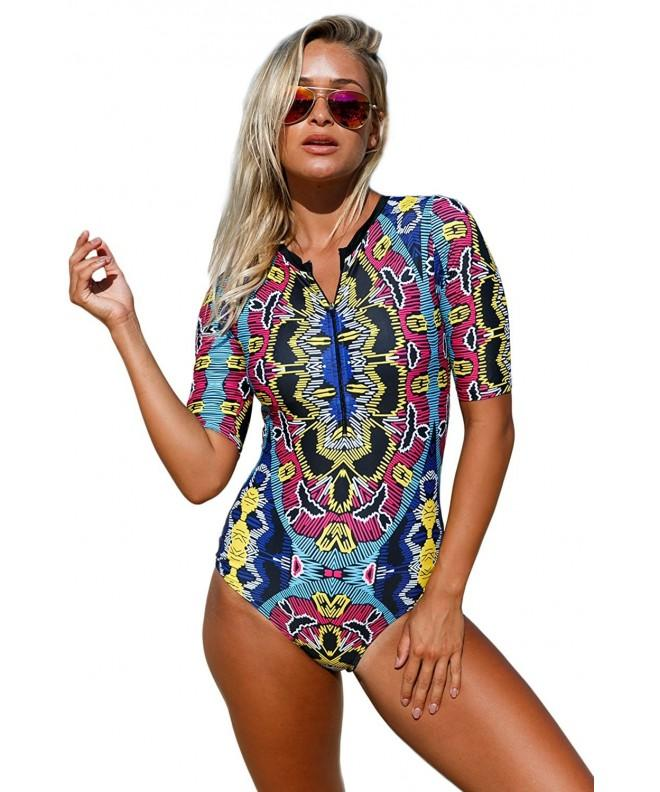 QUEENIE VISCONTI Swimsuits Sleeves Monokini