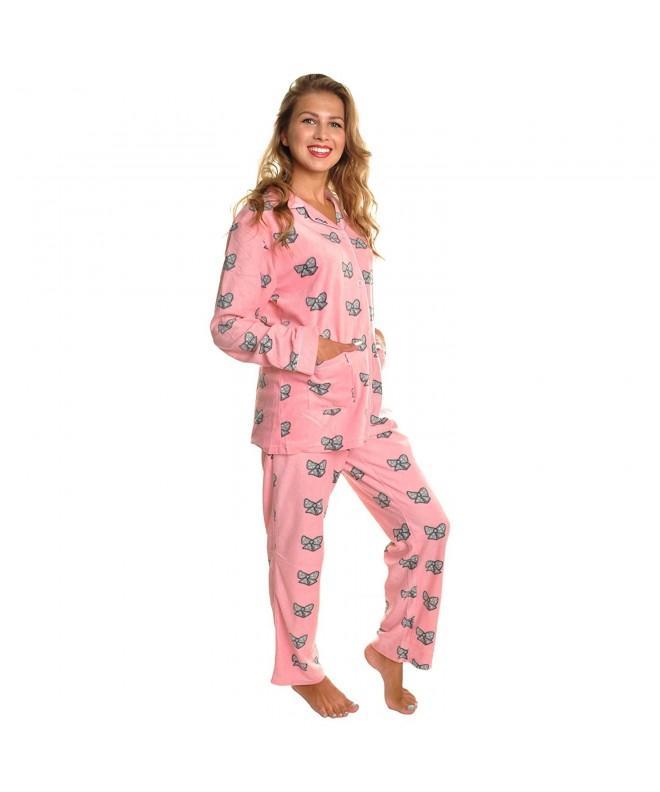 Angelina Cozy Pajama 91156_Bow Tie_L