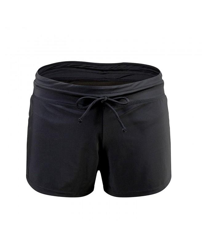 Lemef Waistband Swimsuit Boyshort Stretchy