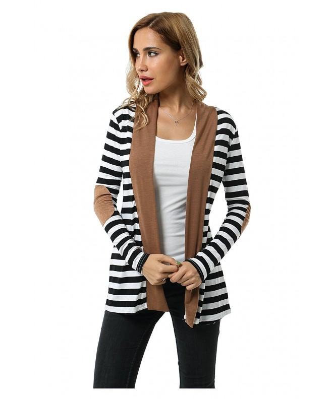 Aifer Womens Striped Cardigan Sweater